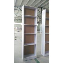 Белая отделка стен 5-яруса углу Bookshelf
