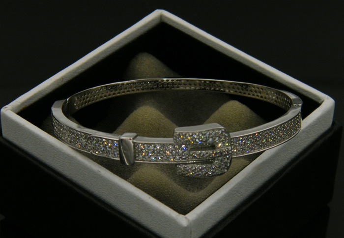 Zircon Diamond Gold Belt Copper Band Party Bangle