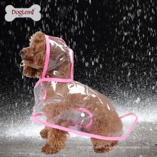 Clear Pet Dog Cat Raincoat Clothes Puppy Glisten Bar Hoody Waterproof Rain Jackets