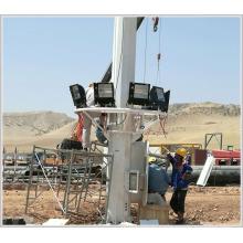 factory price hot dip galvanized 25m 30m high mast flood lighting pole for square lighting