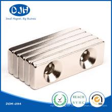 Gesinterter Block Magneti Neodim Magnet mit Sunk Hole