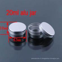 20g Lotion / soins personnels Wide Mouth Aluminium Biberon / Jar / Cans