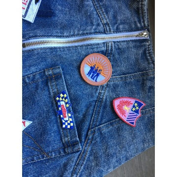 Appliques Flag Patches Vest Jacket thêu