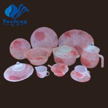 Jogo de jantar de vidro Opal resistente ao calor vidro-72PCS