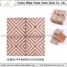 Custom Print Coaster en bois fait à la main