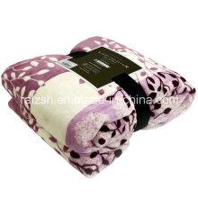 Jasmine Leaves Printed Flannel Sheets Fleece Blankets