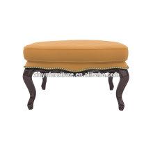 Antique salão de beleza mobiliário otomano de couro XY3374