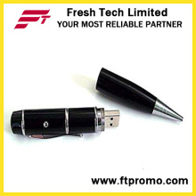 Puntero láser USB memoria flash de la forma de la pluma (d451)