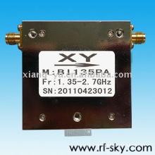 100W Waveguide Type 1.35-2.7 GHz SMA/N connect rf Broadband Isolators