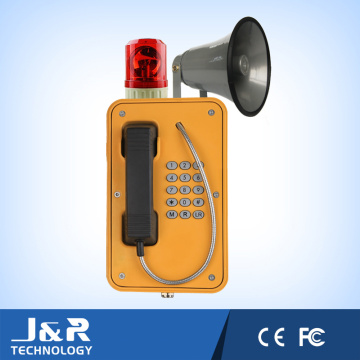 Téléphone téléphonique sans fil, téléphone d'urgence étanche, téléphone à cordon blindé