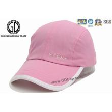 Good Quality Custom Fashion Pink Sports Cap