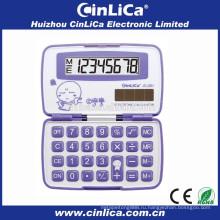 Дешевый складной карманный калькулятор розовый электронный калькулятор скачать для продажи JS-28H