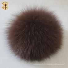 Boule de fourrure à chaud pour la décoration Pompoms en fourrure véritable Boule de fourrure à la fourrure Keychian