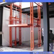 Sjd1.5-5.5 Elevador de carga de cadena de riel de guía doble hidráulico al aire libre Elevador de carga