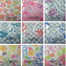 100%polyester coated pvc printed oxford fabric with shining