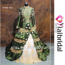 RSW157 Colorful 2014 Long Sleeves Muslim Bridal Pictures Muslim Wedding Dress
