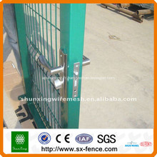 Porte de clôture temporaire de treillis métallique soudé