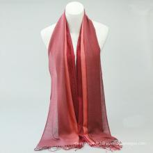 Hot vente mode dame solide chevron rouge 100% écharpe en cachemire