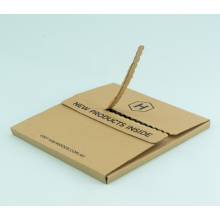 3-ply Corrugated Zipper Open Design Kraft Paper Box
