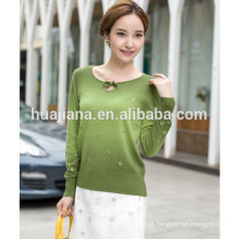 dip dying women's cashmere embroidery sweater