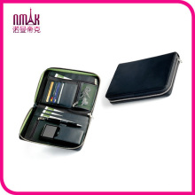 Black Faux Leather Passport Cell Phone Holder Zipper Quality Business Travel Wallet