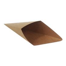 recycled brown kraft paper food box