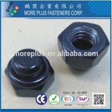 Hecho en Taiwán Galjanoplastia del cinc CR3 + 48Hours SST al rojo Rust Tipo NKE Nylon Pare la tuerca con el casquillo de nylon negro