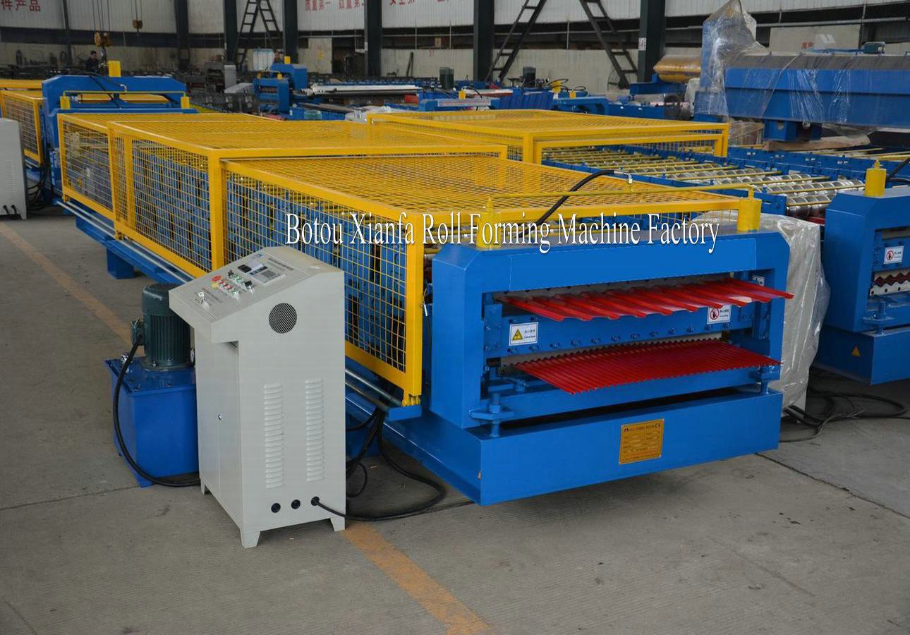 double layer roofing tile machine