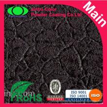 Black thick crocodile skin powder coating