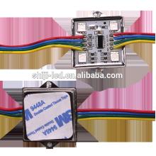 Caixa quadrada do metal de 35mm impermeável 5050 smd RGB conduziu o módulo do pixel DMX ws2801