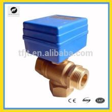 "3way CWX20P 3/4"" DC12V L flow Brass motorized ball valve"