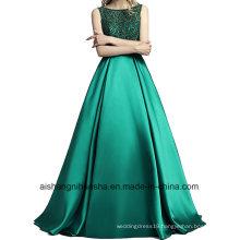Long Dress Back Line Satin Floor Length Formal Prom Dress