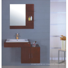 Gabinete de baño de madera maciza (B-227)