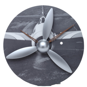 Propeller Aircraft Gear Wanduhr
