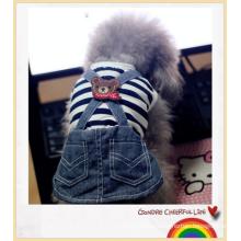 Pet Dog Cats Striped Pant Jumpsuit Clothes