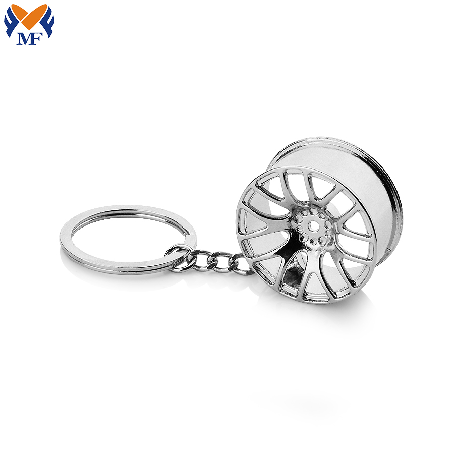 Metal Wheel Keychain