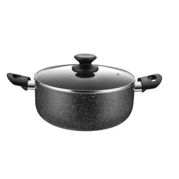 Aluminum Non-stick Marble Coating Casserole With Lid
