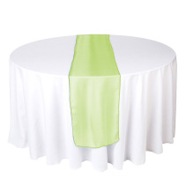 Manzana verde organza corredor de mesa