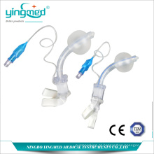 Tubo de traqueostomia descartável em PVC com manguito