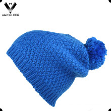 Sombrero de POM-POM de invierno caliente con forro
