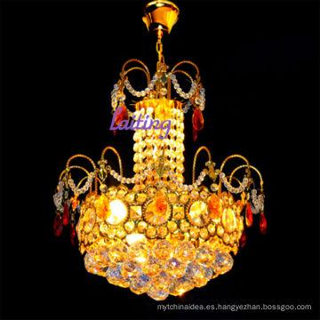 Lámpara de araña pequeña de oro de estilo vintage K9 cristal LT-70102