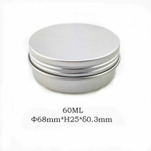 60ml natürliches Aluminiumglas