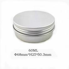Frasco de alumínio natural de 60ml