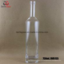 750 мл стеклянная бутылка для джина с бартопом (DVB155)