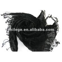 femmes nouveau infinity cachemire noir châles plissés et pashmina