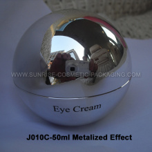 50ml Shiny Silver Ball Shape Cream Jar