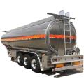 Semirremolque de camión cisterna de aceite de aluminio