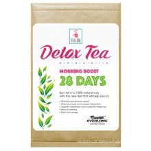 Chá orgânico do Detox Herbal que Slimming o chá da perda do peso do chá (chá do impulso da manhã de 28 dias)
