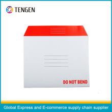 Karton Briefumschlag mit ISO9001 und ISO14001