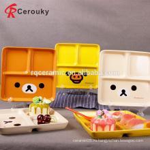 Таможня детей симпатичная керамическая подавая плита еды